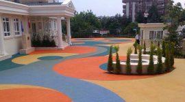 can inşaat okul bahçesi zemin kaplama